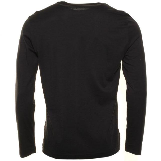Mens Black Classic Crew L/s Tee Shirt