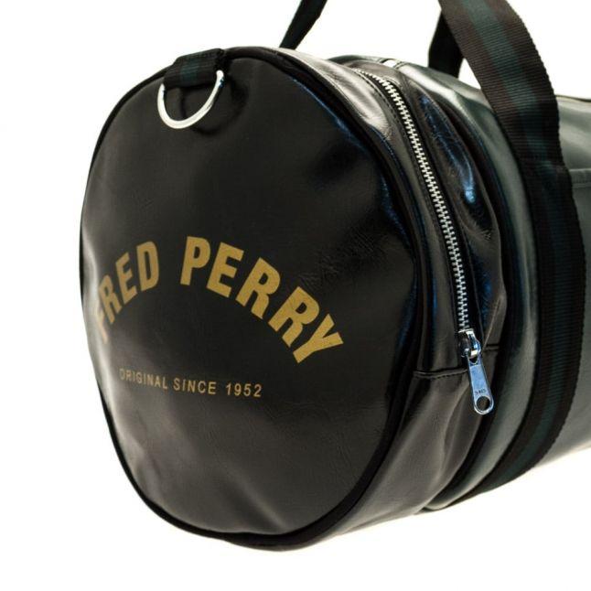 Mens Racing Green Classic Barrel Bag