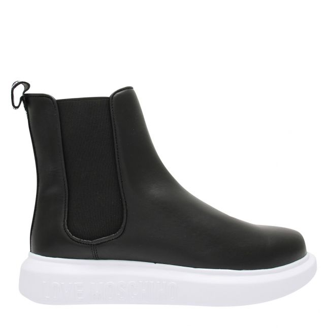 Womens Black Pull On Booties