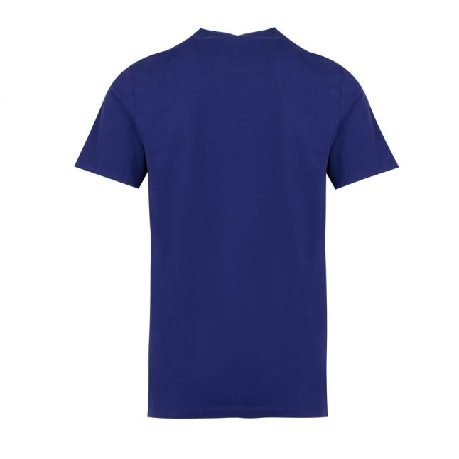 Mens Inky Blue Race Flags S/s T Shirt