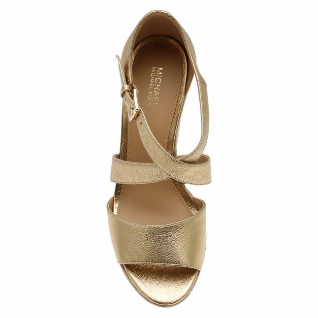 Womens Pale Gold Abbott Metallic Wedges