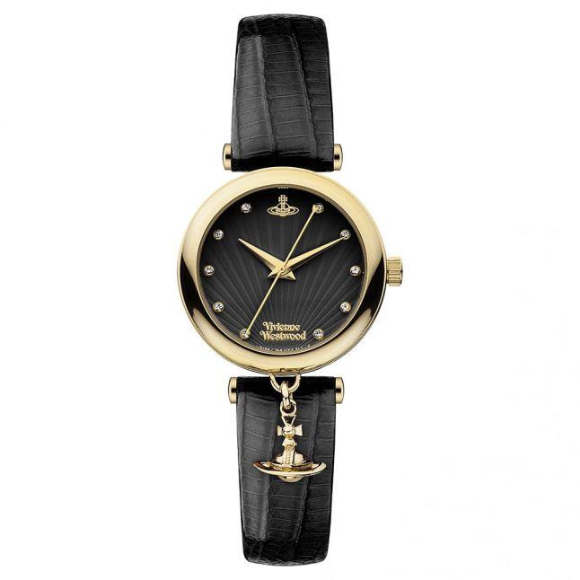 Womens Black Trafalgar Watch