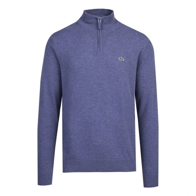 Mens Alby Chine Branded 1/2 Zip Knitted Top
