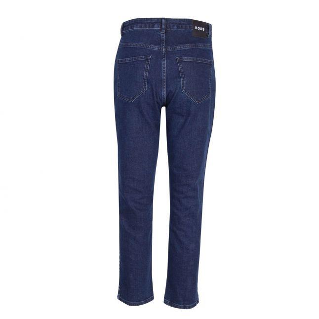 Womens Dark Blue Logo Regular 1 Jeans