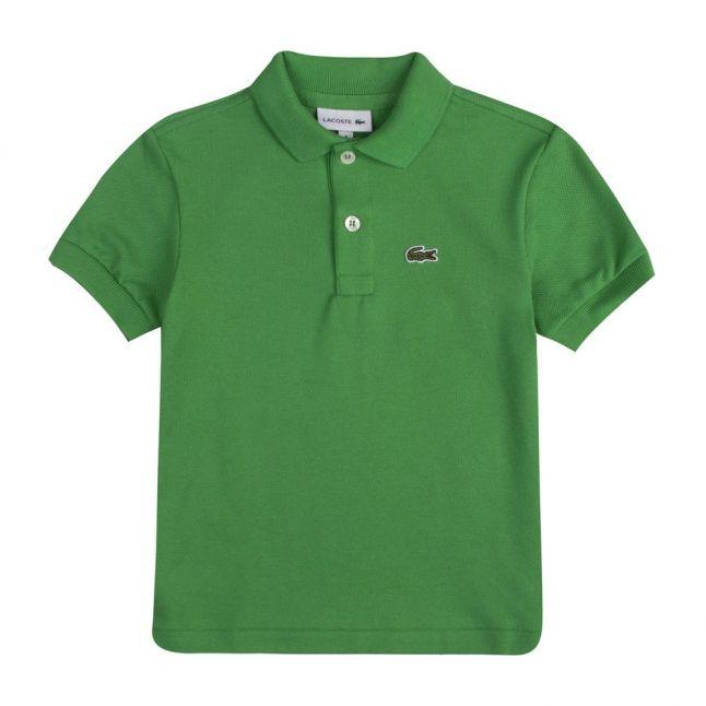 Boys Green Branded S/s Polo Shirt