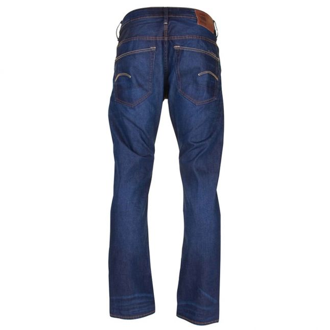 Mens Dark Aged Hydrite 3301 Straight Fit Jeans