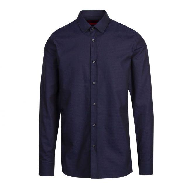 Mens Navy Elisha02 Logo Extra-Slim Fit L/s Shirt