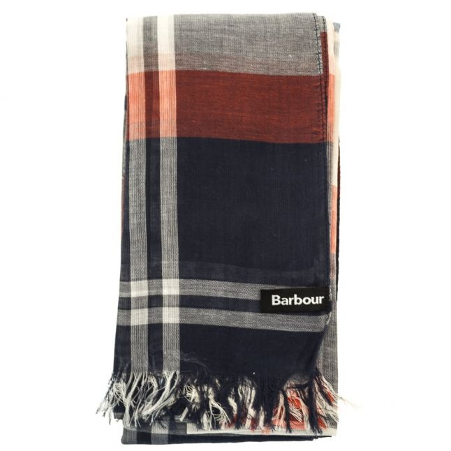 Womens Navy & Red Summer Dress Wrap Scarf