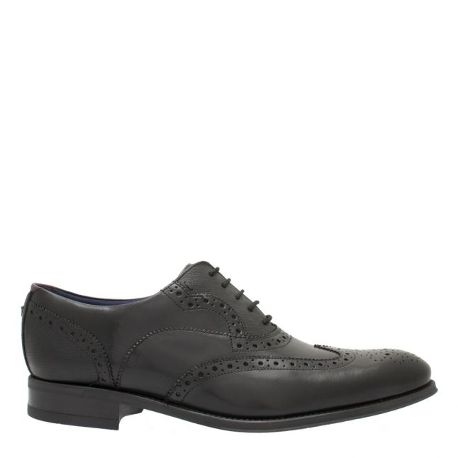 Mens Black Mittal Brogues