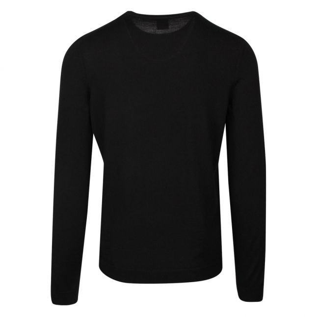 Athleisure Mens Black Raio_1 Wool Crew Neck Knitted Top