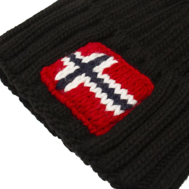 Mens Black Semiury 3 Knitted Hat