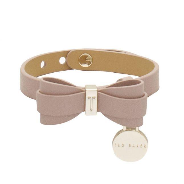 Womens Dusky Pink Aryaana Bow Detail Bracelet
