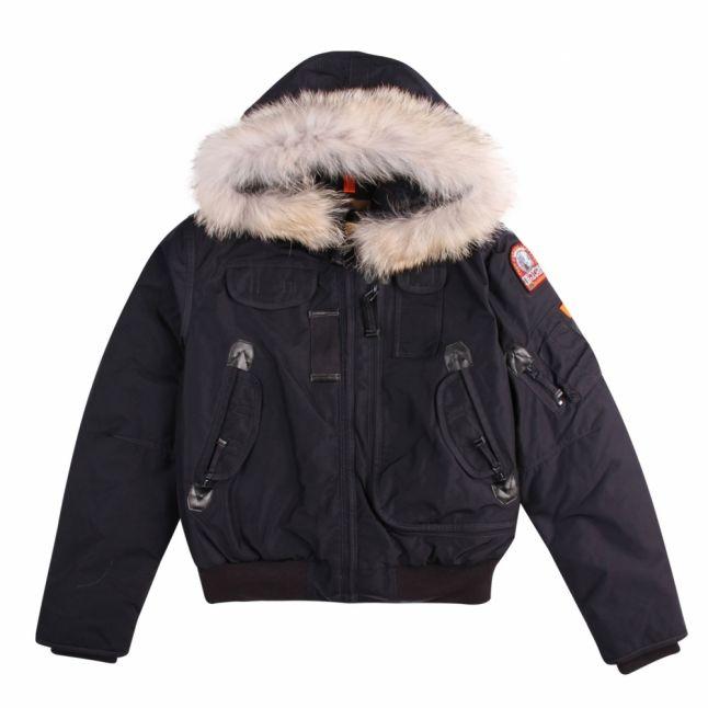 Boys Navy Gobi Down Fur Hooded Jacket