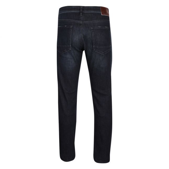 Casual Mens Dark Blue Taber Tapered Fit Jeans