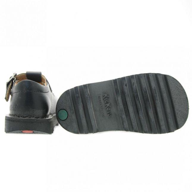Infant Black Kick T-Bar Shoes (5-12)