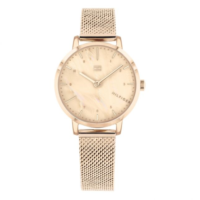 Womens Rose Gold Lily Mesh Watch