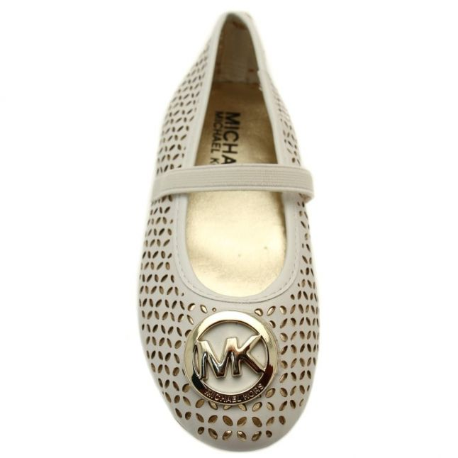 Girls White Faye Maisy Shoes (23-36)