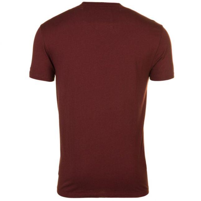 Mens Dark Bordeaux Ocat Regular Crew S/s Tee Shirt