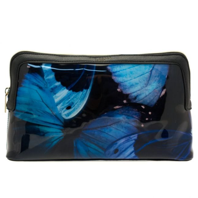 Womens Black Cenlore Butterfly Collective Wash Bag