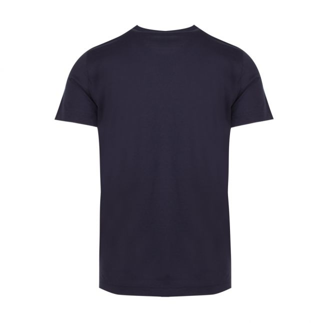 Athleisure Mens Navy Tee Curved S/s T Shirt