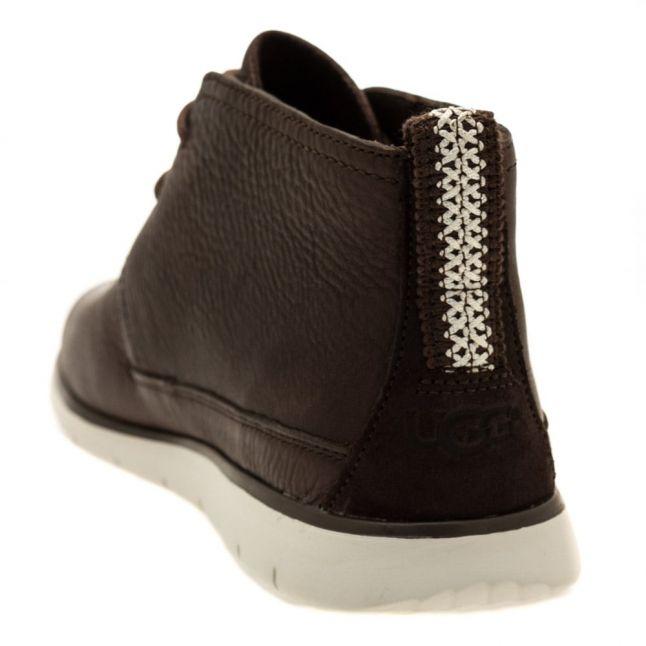 Mens Espresso Freamon Leather Boots