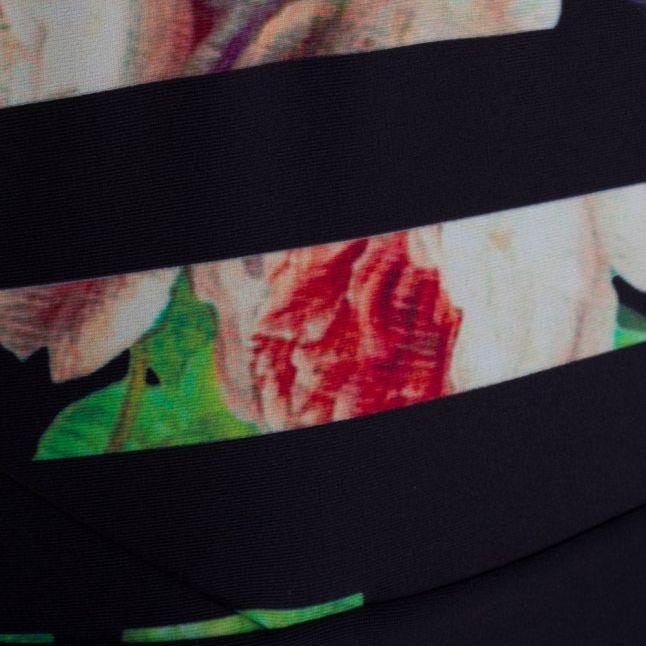 Womens Black Wrenar Tapestry Floral Swimsuit