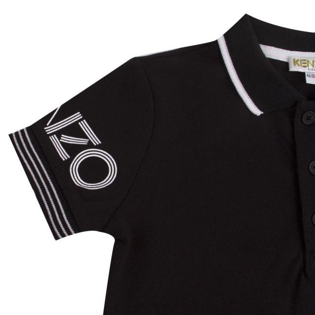 Junior Navy Logo S/s Polo Shirt