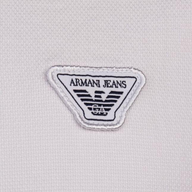 Mens White Textured L/s Shirt