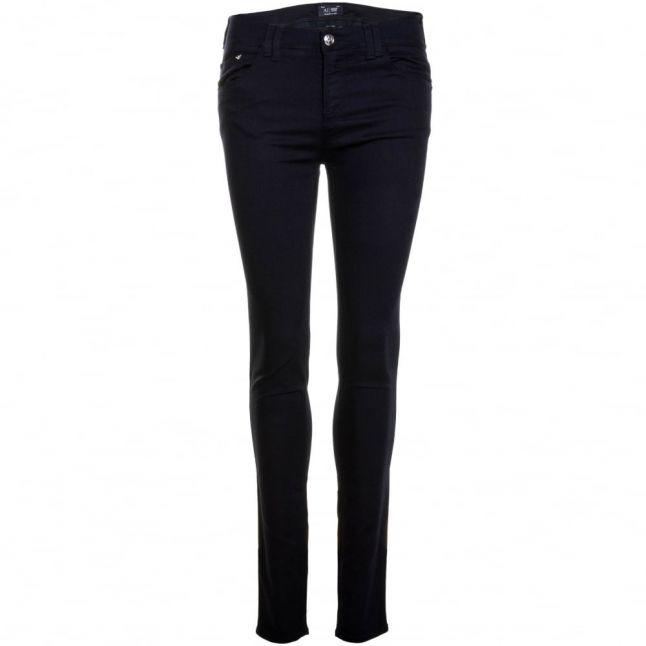 Womens Blue Wash J28 Mid Rise Skinny Jeans