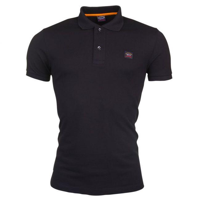 Paul & Shark Mens Black Shark Fit S/s Polo Shirt