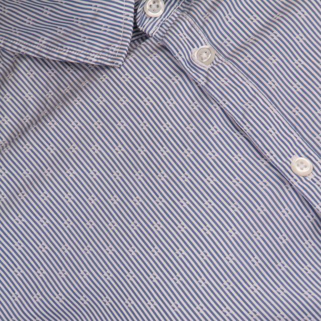 Mens Open Blue Eglam-Short S/s Shirt