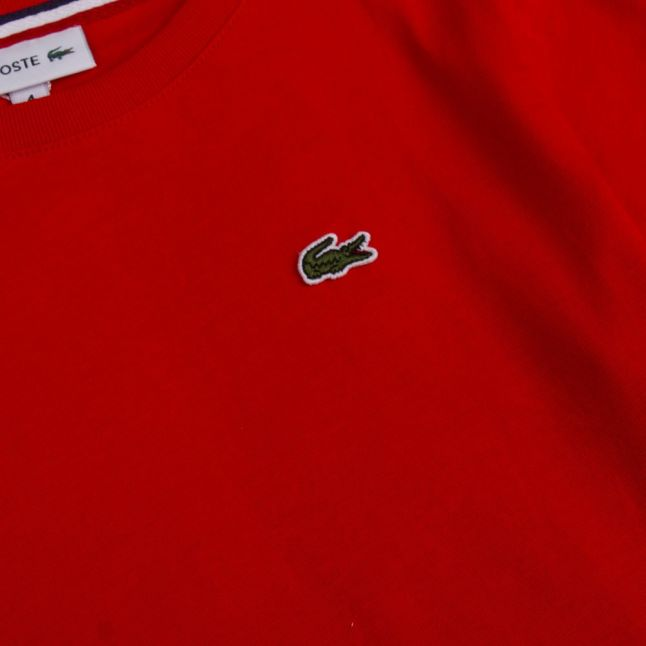 Boys Red Branded S/s T Shirt