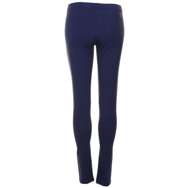 Womens Blue Training Logo Series Leggings