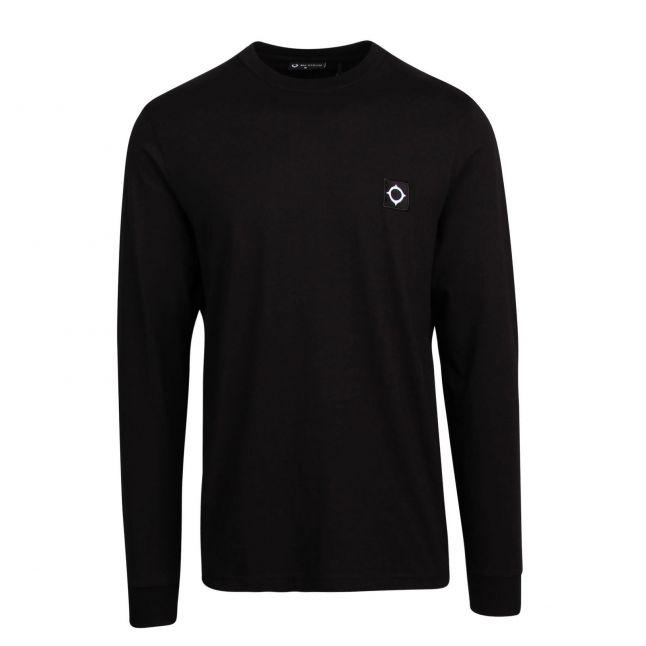 Mens Jet Black Icon L/s T Shirt
