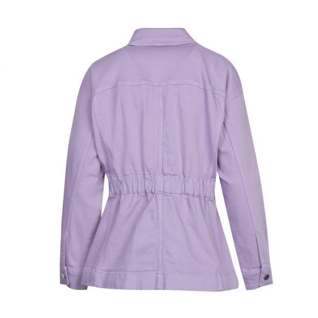 Womens Lilac Sofiaz Waisted Denim Jacket