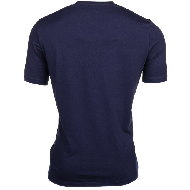 Mens Navy Embroidered Logo Lounge S/s Tee Shirt