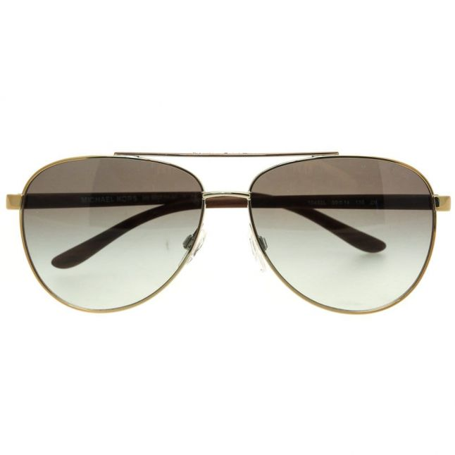 Womens Gold Wood Hvar Sunglasses