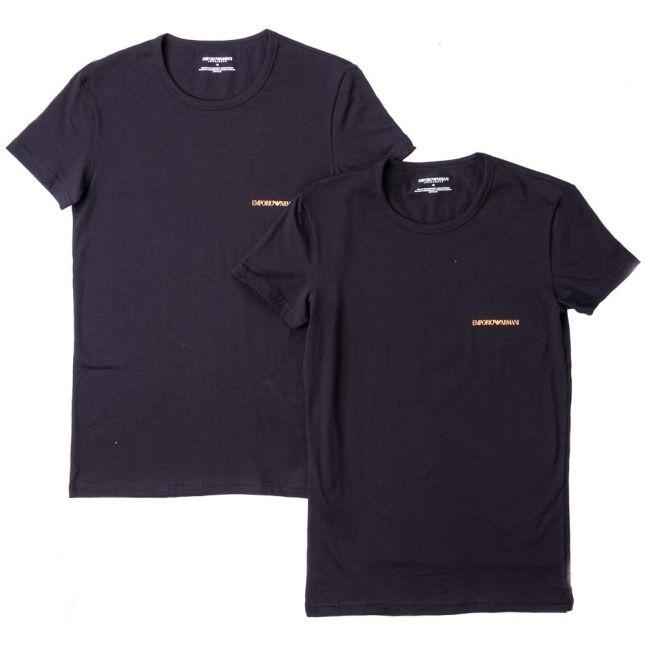 Mens Black 2 Pack Logo Crew S/s Tee Shirts