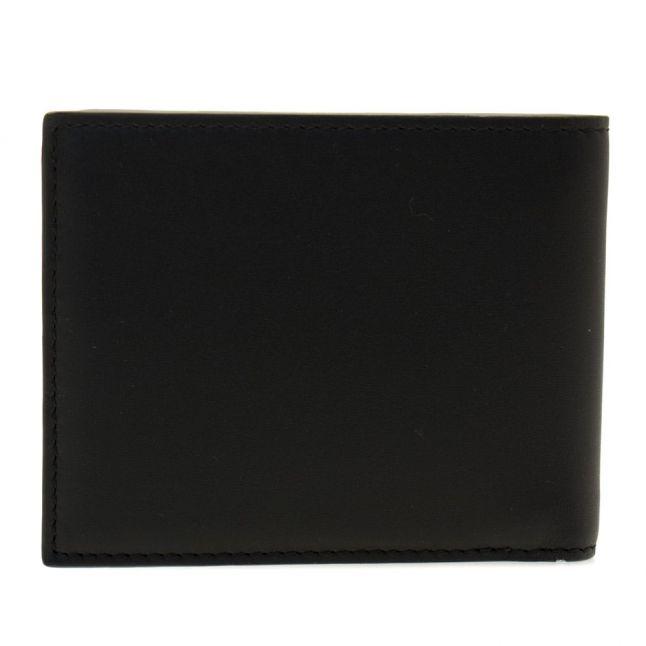 Mens Black Leather Wallet & Keyring Set