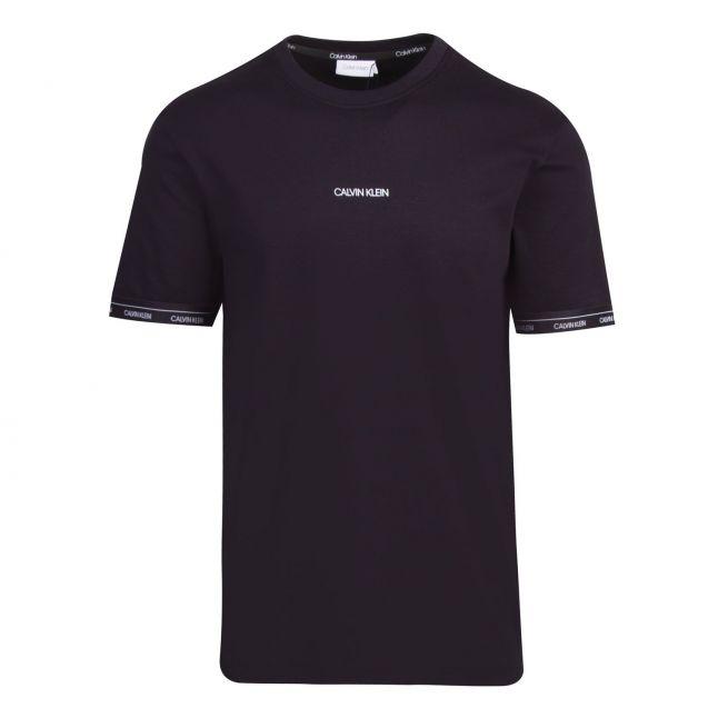Calvin Klein Mens Black Logo Cuff S/s T Shirt