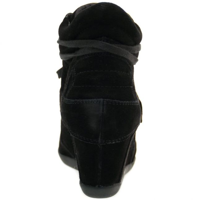 Womens Black Bowie Wedge Trainers