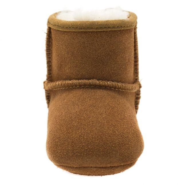 Infant Chestnut Jesse Bow Booties (XS-S)