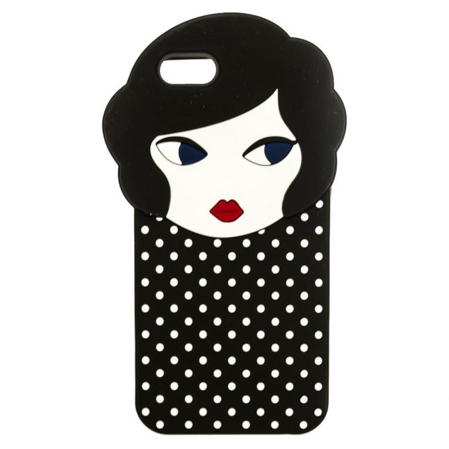 Womens Black & White Doll Face Iphone 6 Case