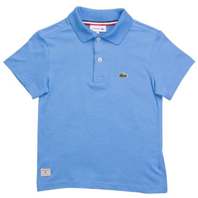 Boys Uzp Light Blue Branded S/s Polo Shirt