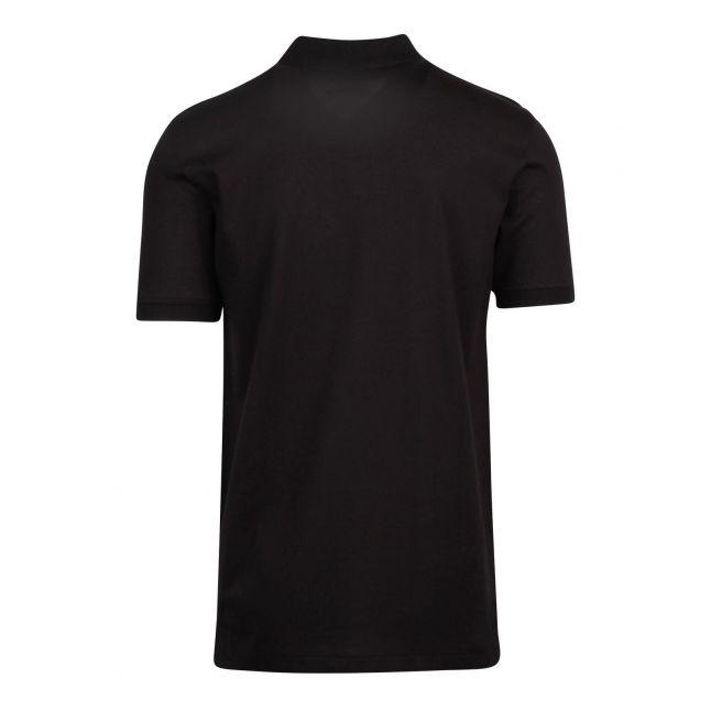Mens Black Scribble Zebra Slim Fit S/s Polo Shirt