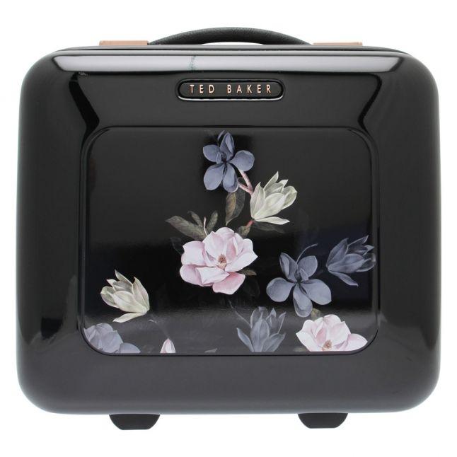Womens Opal Black Printed Vanity Case