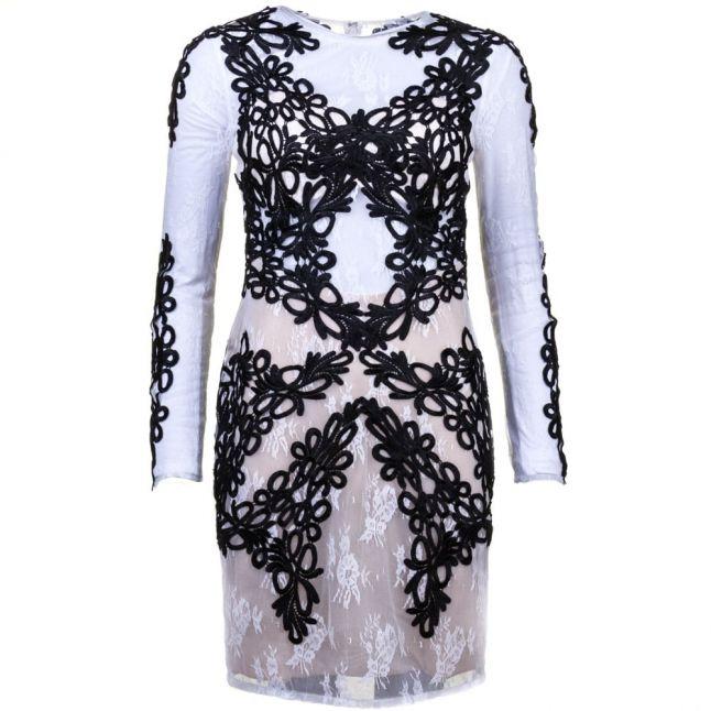 Womens Black & Ivory Jackie Dress