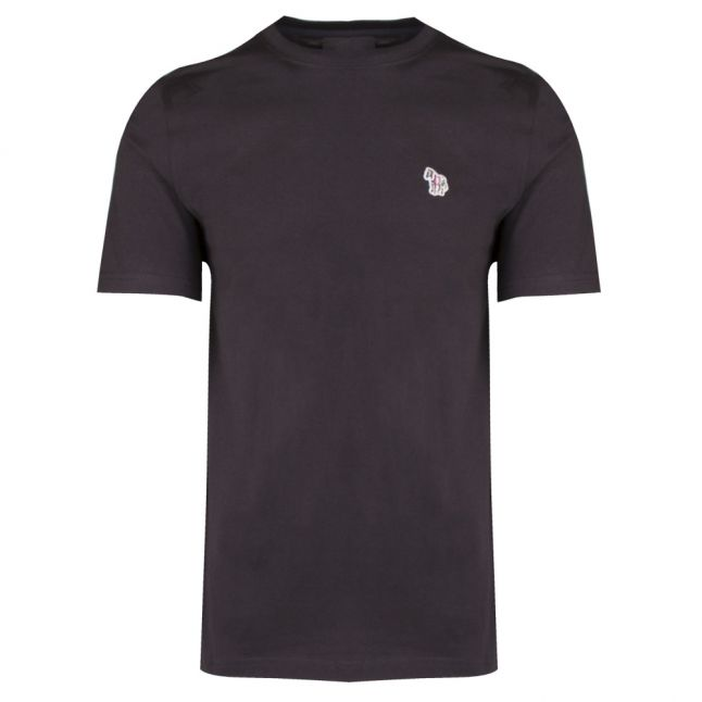 Mens Black Classic Zebra Regular Fit S/s T Shirt