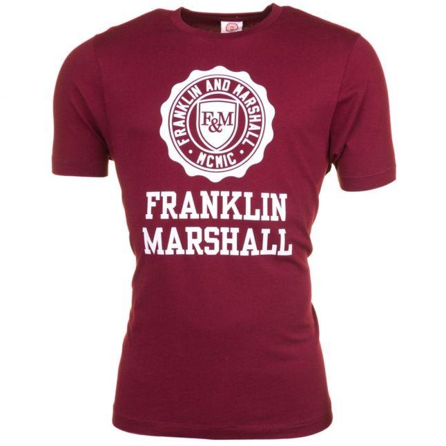 Mens Bordeaux Big Logo S/s Tee Shirt