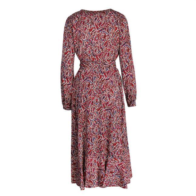 Womens Dark Ruby Lush Paisley Wrap Dress